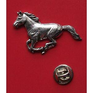 English Pewter HORSE Pin Badge Tie Pin / Lapel Badge (XTSBPA19)