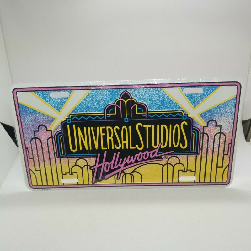 Universal Studios Hollywood License Plate Souvenir NIW New In Wrapper