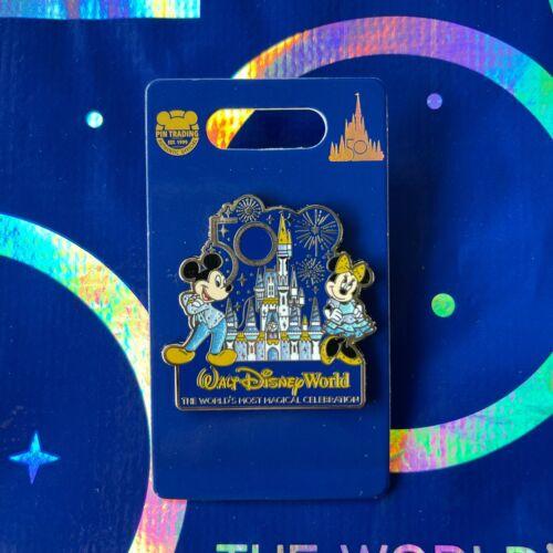 Disney Parks 50th Anniversary Mickey & Minnie Castle Pin - NEW