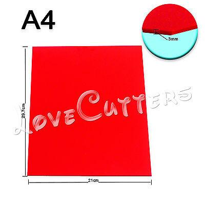 Hq Red Acrylic Plexiglass 210mm X 297mm 3mm Thickness A4 Sheet 8 X 12 1pc