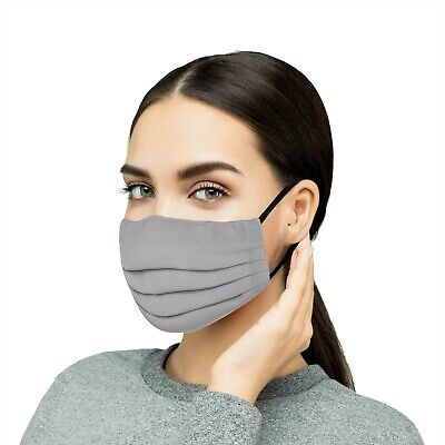 Extra Large, 5PC Reusable Cloth Face Mask Washable Cotton Face & Mouth Covering