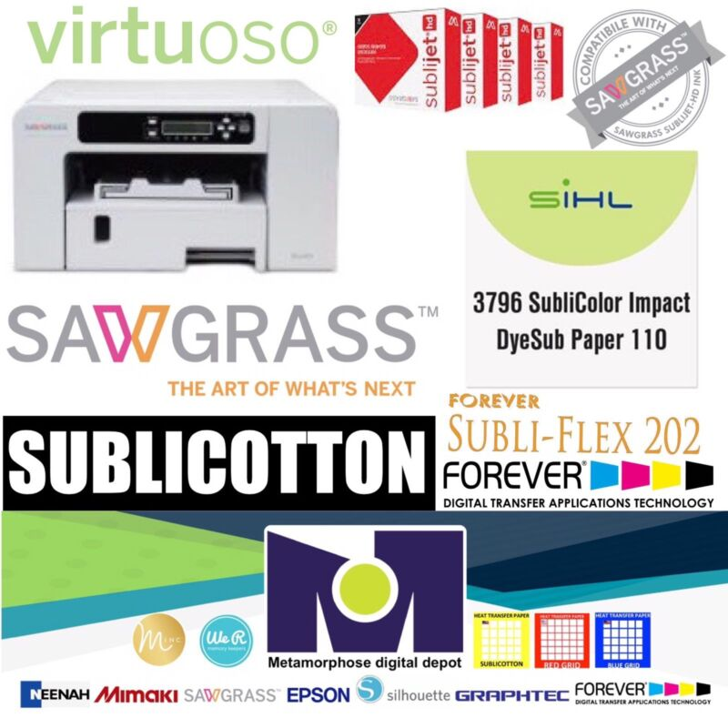 SUBLIMATION COMBO Sawgrass Virtuoso SG400 HD Sublimation System FREE Papers