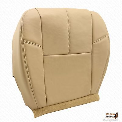 2007 2008 2009 2010 Chevy Avalanche Driver Bottom Leather Seat Cover Color Tan