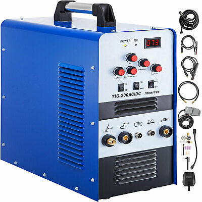 Tig Inverter Welder 200a Igbt Pulse Acdc Tigmma Aluminum Square Wave 110230v