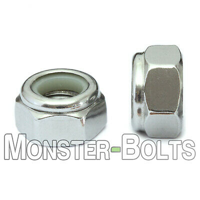 Stainless Steel Nylon Insert Hex Lock Nuts 4-40 6-32 8-32 10-32 14-20 516 38