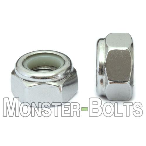Stainless Steel Nylon Insert Hex Lock Nuts 4-40 6-32 8-32 10-32 1/4-20 5/16, 3/8