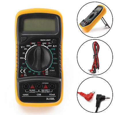 Digital Multimeter Stromprüfer Vielfach-Messgerät Voltmeter Spannungsmesser Neu