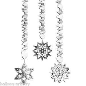 3-Christmas-Silver-Snowflake-Dangling-Foil-Cutouts-Decorations