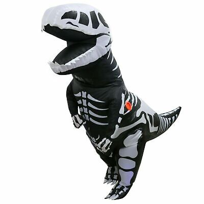 Skeleton T-REX Inflatable Dinosaur Dino Costume For Adult Cosplay Outfits Suit
