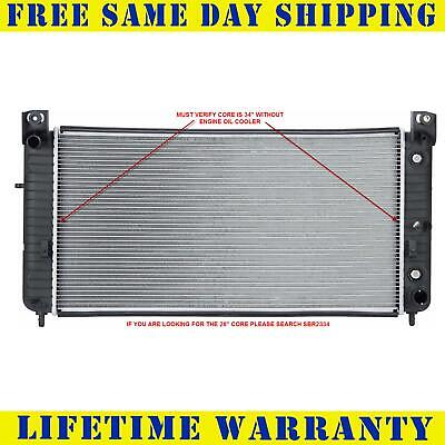 "Radiator For 1999-2014 Chevy P/U 1500 2500 Must Verify 34"" Core Free Shipping"