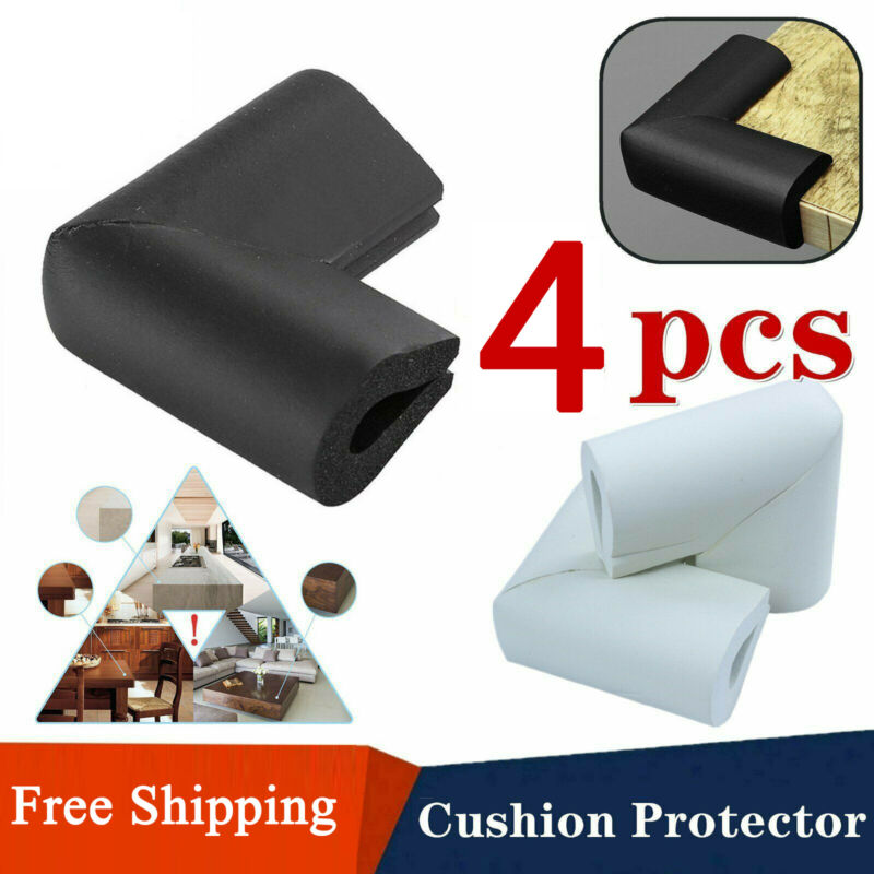 4Pcs Cushion Safety Protector Soft Rubber Edge Guard Table Corner Kid Child Baby