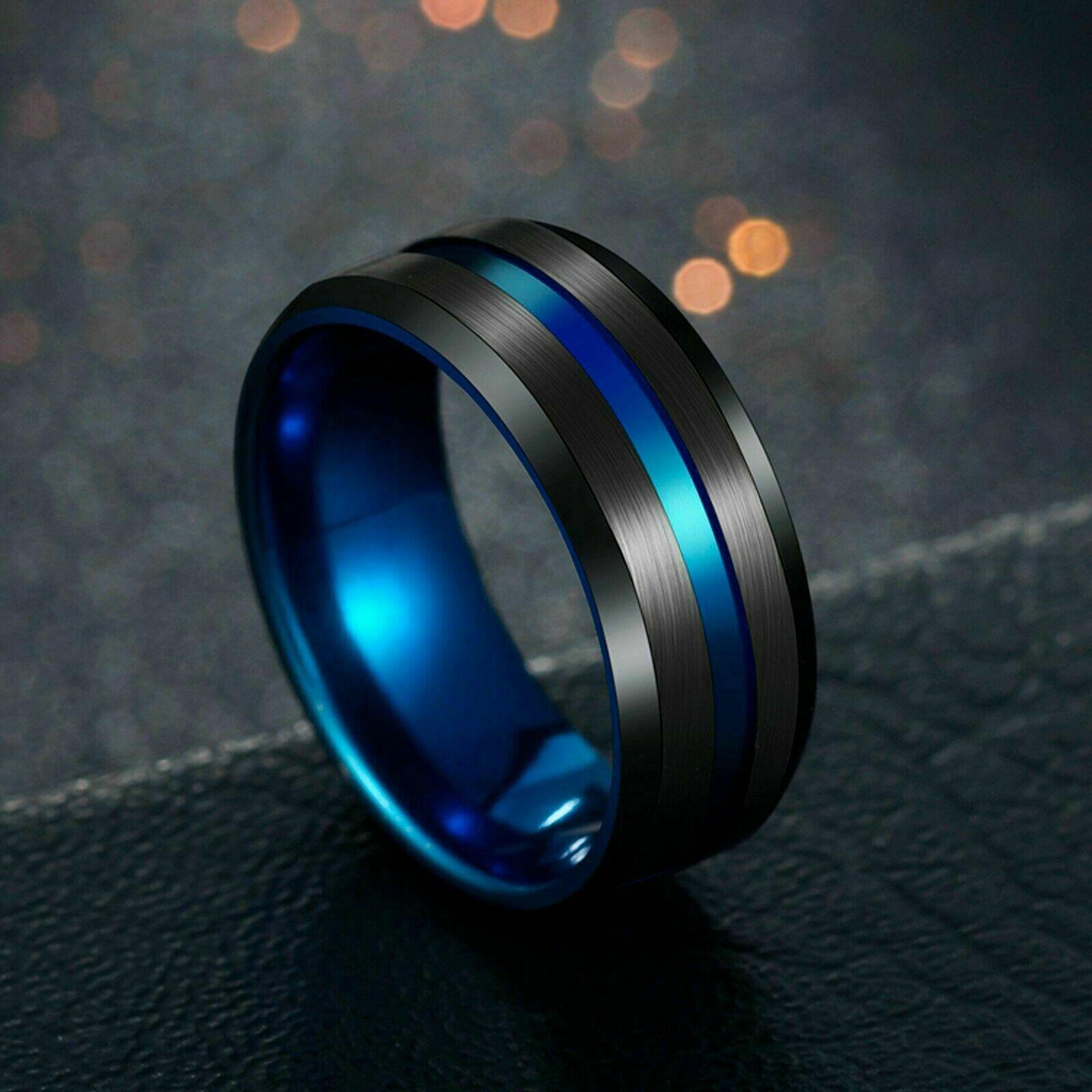 Stainless Steel Titanium Ring Men&Women Wedding Engagement B
