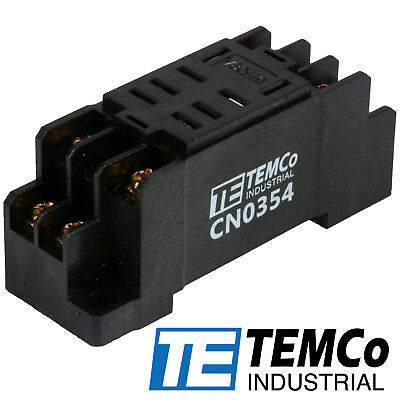 Temco Industrial Socket 10 Amps 8 Pin For Ice Cube Relays Ly2 Format