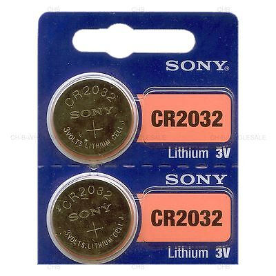 2 NEW SONY CR2032 3V Lithium Coin Battery Expire 2027 FRESHLY NEW - USA Seller