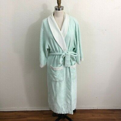Texere Robe Sz S/M Green Terry Cloth Bamboo Viscose/Cotton Blend
