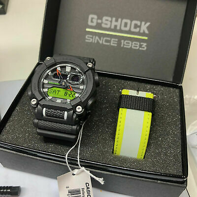 Casio G-Shock GA900E-1A3 Yellow Mens Watch GA-900 Limited Edition Box Set