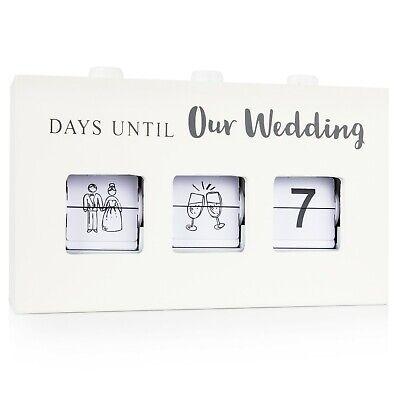 Wood Wedding Countdown Calendar Box: Handmade Wooden Box Great Engagement Gift!