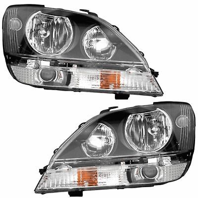 NEWMAR MOUNTAIN AIRE 2005 2006 BLACK HEADLIGHT HEAD LIGHT LAMPS RV - SET