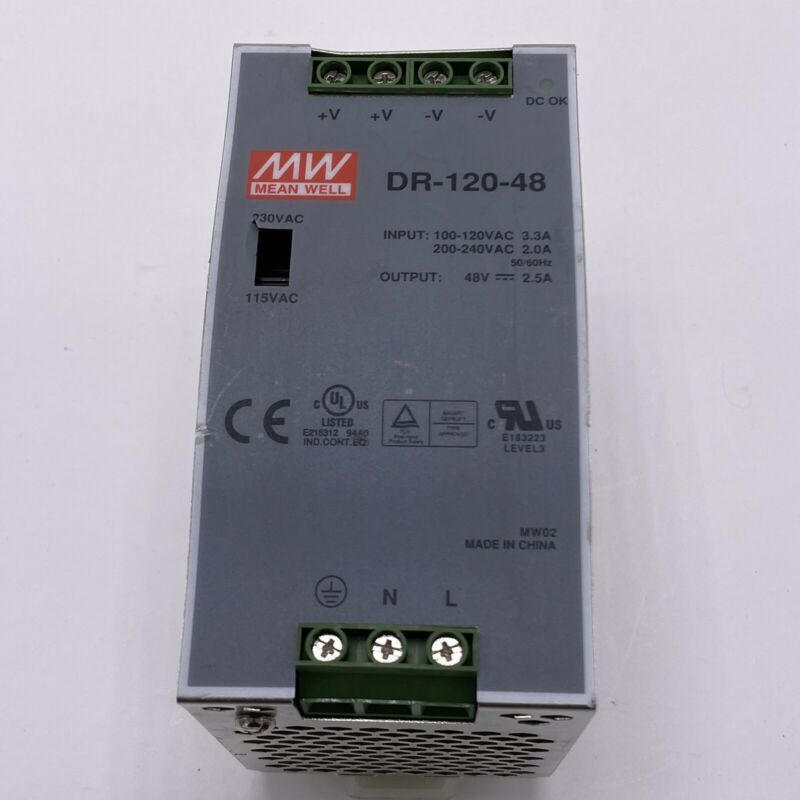 MEAN WELL DR-120-48 DIN-RAIL POWER SUPPLY