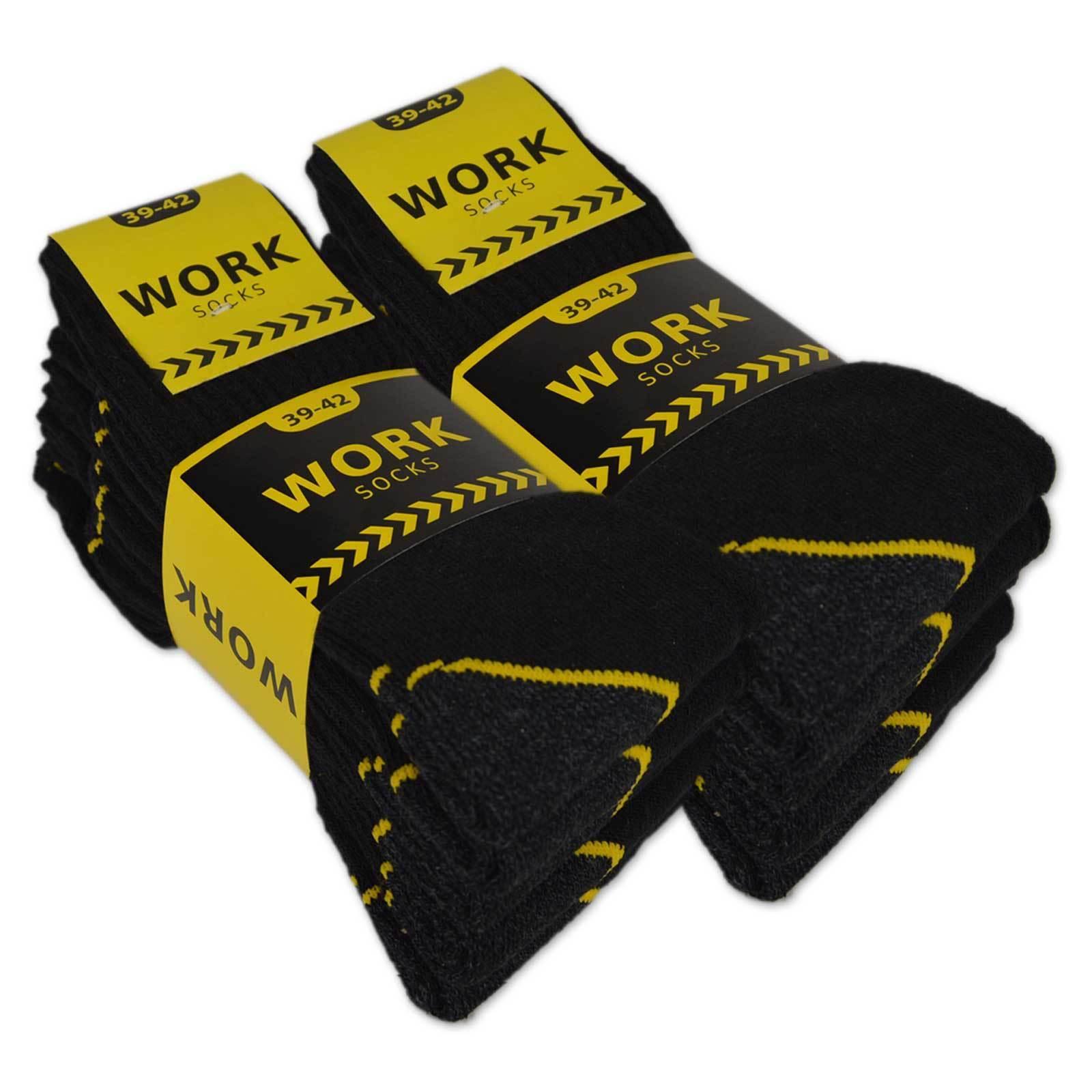 10 | 20 Paar Arbeitssocken WORK Herrensocken Baumwolle auch in Übergröße 47-50