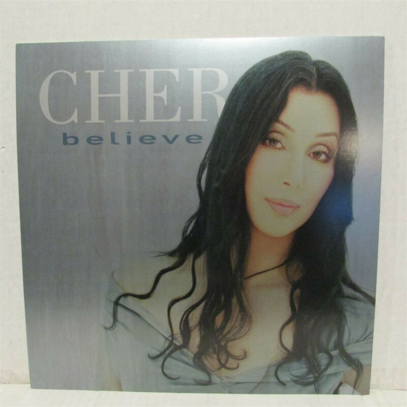 "CHER Believe 1998 12x12"" 2 Sided CD / Record Store Poster Flat LOT OF 3"