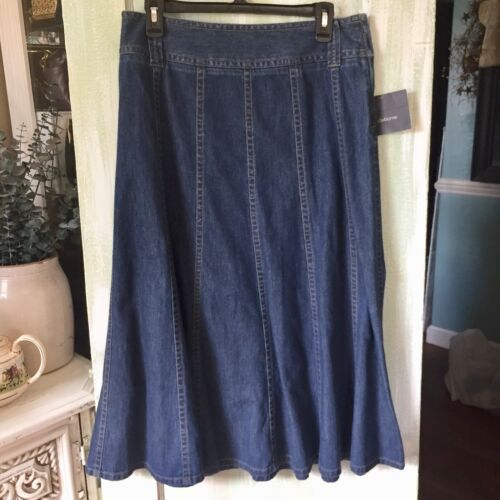 Liz Claiborne Medium Blue Denim Long Maxi Skirt Women's 8