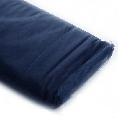 "Navy Tulle Fabric Bolt - {54""x 40 Yards Bolt} - Style# 35333 - Navy Tulle"