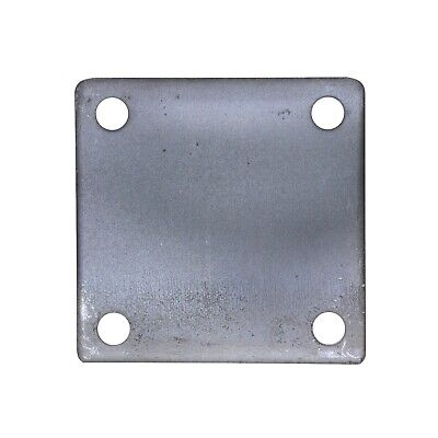 4 X 4 Square Flat Steel Metal Base Plate 316 Thickness 38 Hole Qty 4