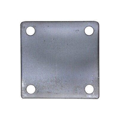 4 X 4 Square Flat Steel Metal Base Plate 6ga Thickness 38 Hole Qty 4