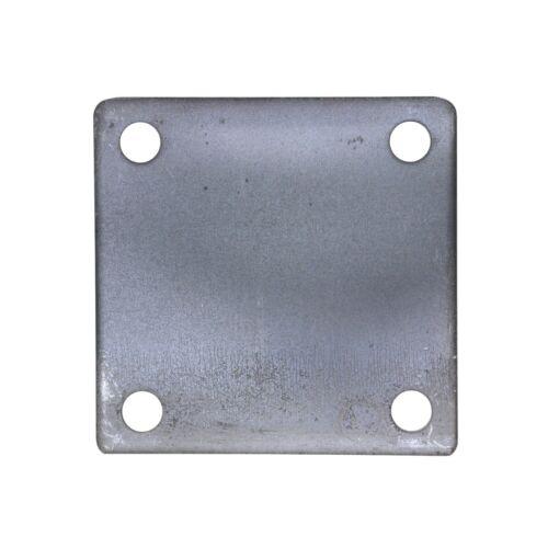 "4"" x 4"" SQUARE FLAT STEEL METAL BASE PLATE 6GA THICKNESS 3/8"" HOLE | QTY 4"