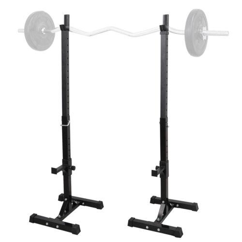 2pcs Adjustable Rack Standard Steel Squat Stands Barbell Free Press Bench Fitness, Running & Yoga
