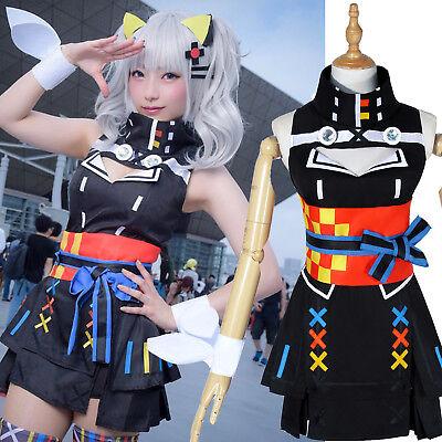YouTuber Kizuna Al Kaguya Luna Cosplay Costume Suit Dress Sexy Girl Outfit - Luna Girl Kostüm