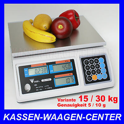 GEEICHTE Verkaufs Markt Laden WAAGE - Wägebereich 15/30kg -  vom Fachhändler
