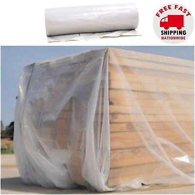 Plastic Sheeting Roll Tarp Cover Extra Heavy Duty 12 X 100 Clear Opaque 6 Mil