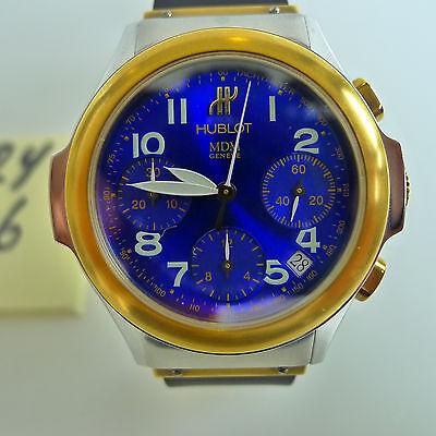 Hublot Steel & Gold Blue Dial Chronograph Elegant Automatic Ref. #1810.730.2