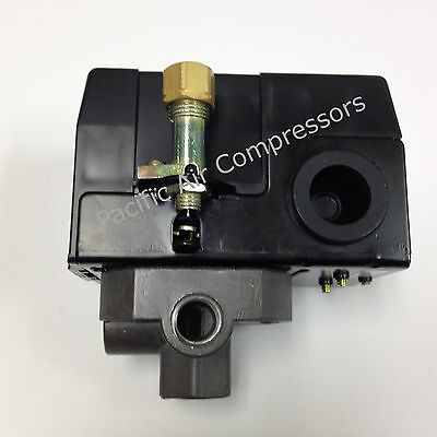 Air Compressor On Off Switch 120240 Volt. Four Port Factory Set 145 - 175 Psi