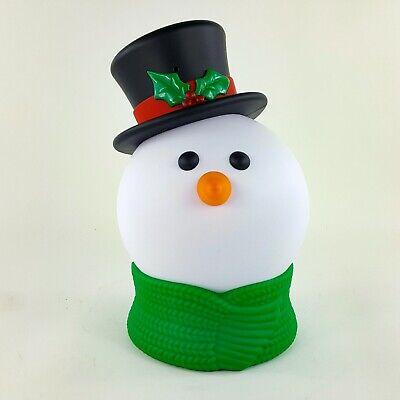 "Vintage Hallmark Tabletop Musical Light Up 11"" Snowman Head Christmas Songs"