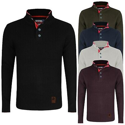 Mens Crew Neck Jumper Stallion Knitwear Sweaters Pullover Knitted Designer New