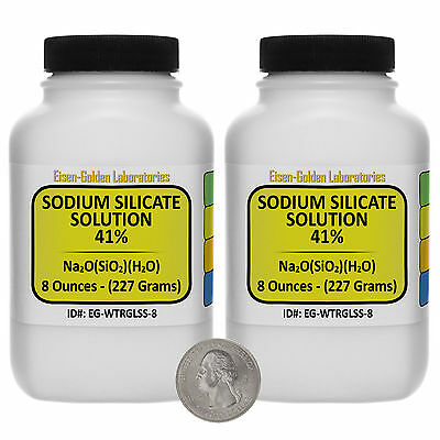 Sodium Silicate 41 Solution Acs Grade 16 Oz In Two Space-saver Bottles Usa
