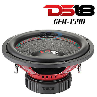 "DS18 GEN-X154D 15"" Car Subwoofer 1000W Max Dual 4 Ohm 15 inch Bass Sub Woofer"