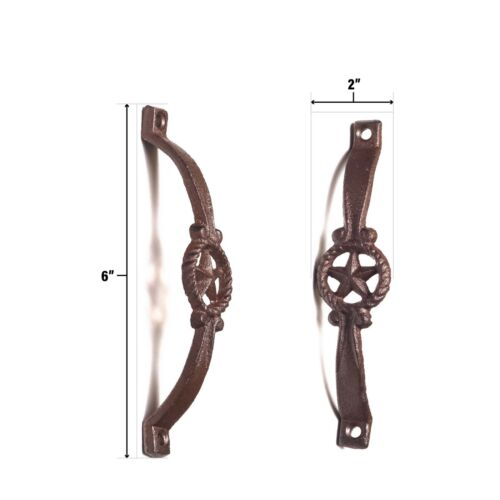 Star Cast Iron Antique Style RUSTIC Barn Handle Gate Drawer Pull Shed Door