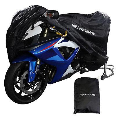 Waterproof Motorcycle Motorbike Dust Rain Sun Cover UV Protector w/ Storage Bag