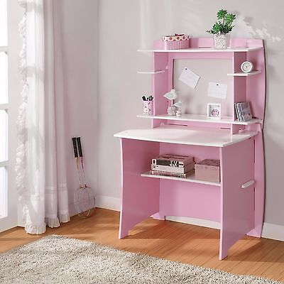 (Desks For Girls Computer Desk With Hutch Small Spaces Kids Bedroom Student)