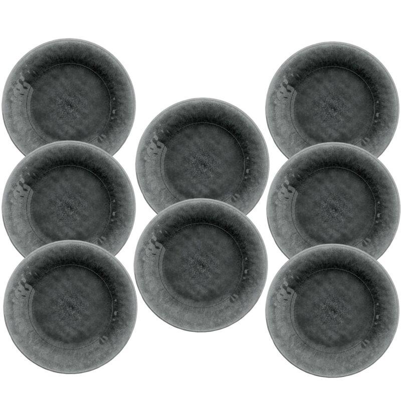 Potters Reactive Glaze GREY Melamine Side Plate x 8