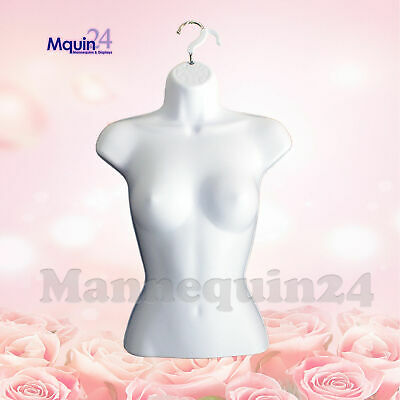 Female Torso Mannequin Body Dress Form Women Hard Plastic Hanging