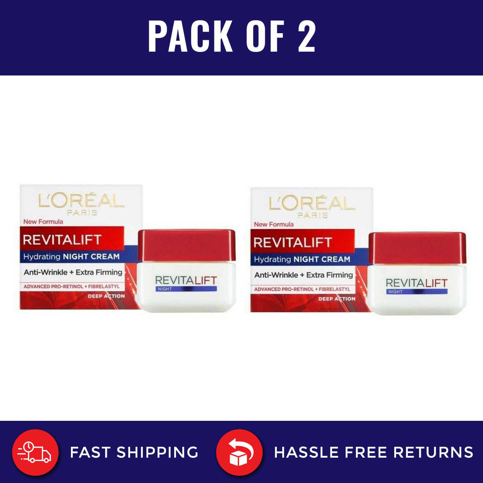 Loreal Revitalift Anti- Wrinkle Day cream and Night Cream 50ml x 2