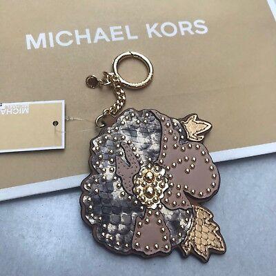MK Handbag Charm Michael Kors Hang Tag Flower Key Fob Valentine Gift RRP£60