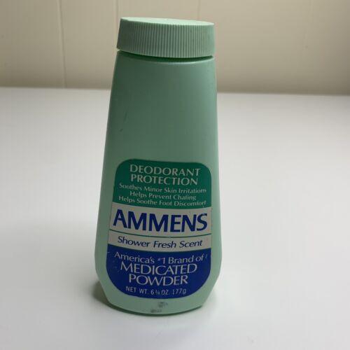 Vintage 1987 Ammens Shower Fresh Scent Medicated Deodorant Powder 6.25 oz NOS