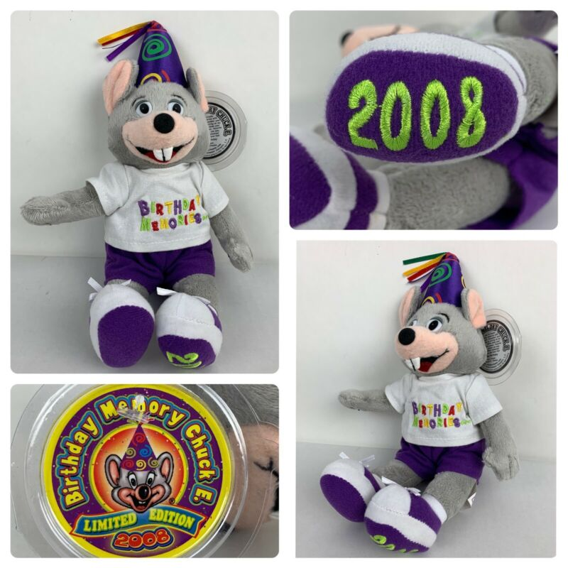 Chuck E. Cheese Chuckie Birthday memories plush Limited edition 2008 Plush Toy