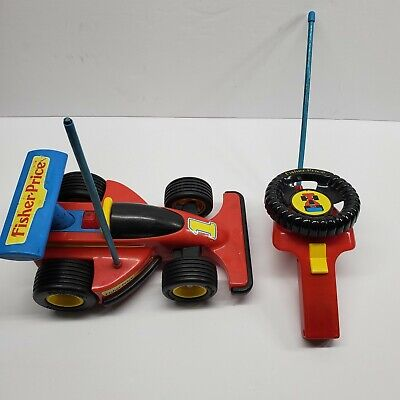 1992 Fisher Price Red RC Indy Car With Remote Control Mostly Working Vintage